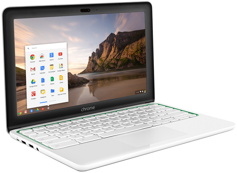 HP 11 Chromebook right view