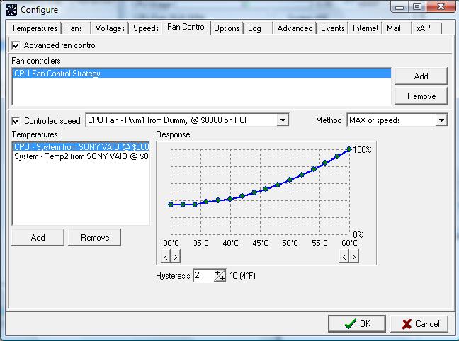 Програмку для управления скорости вентилятора